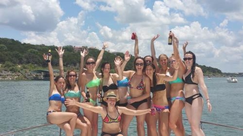 Bachelorette Party on a Party Boat on Lake Travis
