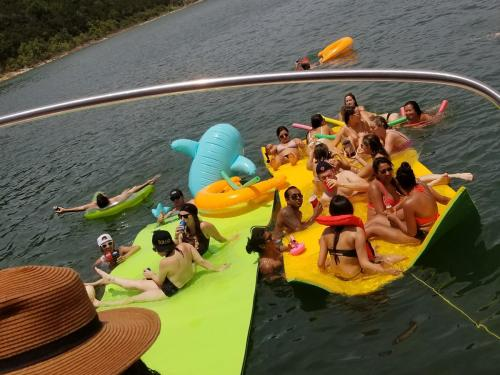 lily pad party with Lake Travis Yacht Rentals